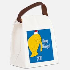 ManateeXmas Canvas Lunch Bag