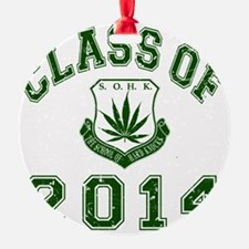 CO2014 SOHK Weed Green Distressed Ornament