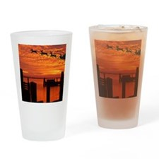 santasleigh copy Drinking Glass