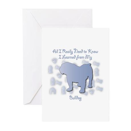 Learned Bulldog Greeting Cards (Pk of 10)