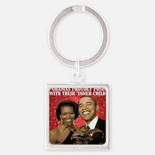 ObamaInner11 Square Keychain