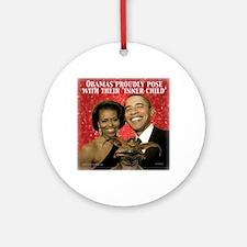 ObamaInner11 Round Ornament