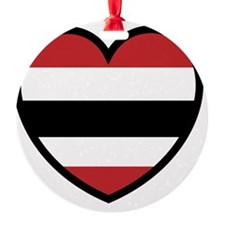 Hawk Heart Solo Ornament