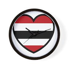 Hawk Heart Solo Wall Clock