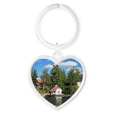 Siaro-text Heart Keychain
