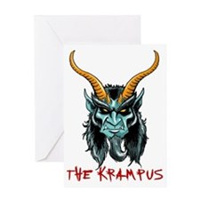Krampus Portrait Greeting Card