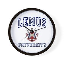 LEMUS University Wall Clock