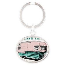 trailertrashcolor Oval Keychain