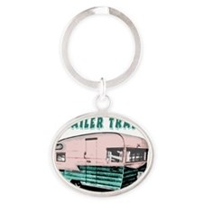 trailertrashsmalls Oval Keychain