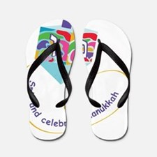 dreidel with color spots Flip Flops