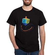 hanukkah blue dreidel with stars T-Shirt