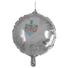 dreidel with color spots for black b Balloon