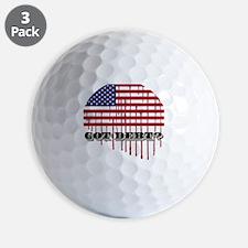 gotdebt_american_flagchart Golf Ball