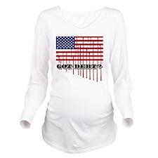 gotdebt_american_fla Long Sleeve Maternity T-Shirt