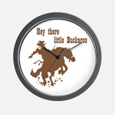 Retro Buckaroo Cowboy Western Wall Clock