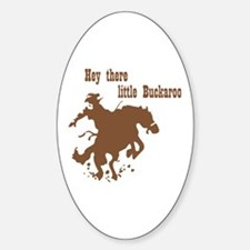 Retro Buckaroo Cowboy Western Oval Decal