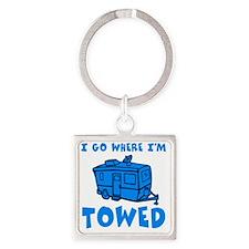 towedtrailersmalls Square Keychain