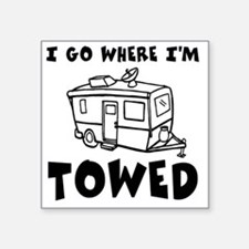 "towedtrailer Square Sticker 3"" x 3"""