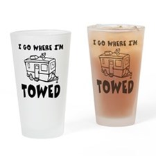 towedtrailer Drinking Glass