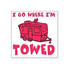 """towedtrailerred Square Sticker 3"""" x 3"""""""