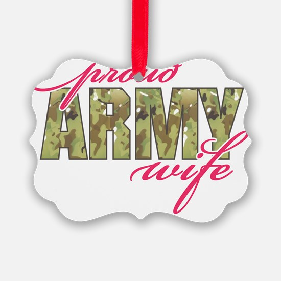 army wife multi cam Ornament