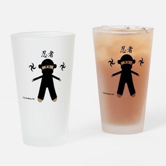 Ninja Sock Monkey 2010 Drinking Glass