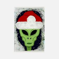 Xmas Alien Smile Card Rectangle Magnet