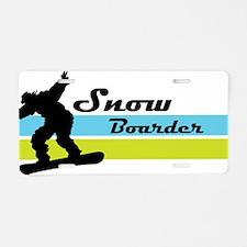 snow boarder3 Aluminum License Plate