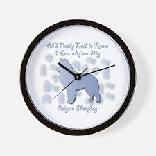 Learned Sheepdog Wall Clock