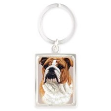 Bulldog Jewel Portrait Keychain