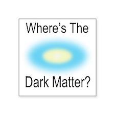 """Where Is The Dark Matte Square Sticker 3"""" x 3"""""""