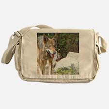 Red Wolf Messenger Bag
