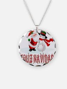 feliz navidad a Necklace