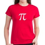 Women's Pi T-Shirt - Bright & Bold Darker colors with large Pi symbol on front. - Availble Sizes:Small,Medium,Large,X-Large,2X-Large (+$3.00) - Availble Colors: Black,Red,Caribbean Blue,Pink,Charcoal Heather,Kelly,Navy