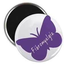 Fibromyalgia Awareness Butterfly Magnet