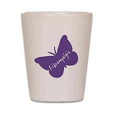 Fibromyalgia Awareness Butterfly Shot Glass
