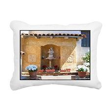 carmelmissioncaourtyard2 Rectangular Canvas Pillow