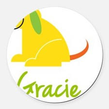 Gracie-loves-puppies Round Car Magnet