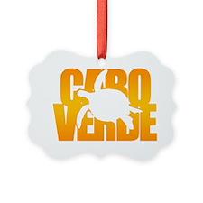 cvTURTLEonlyORANGE Ornament