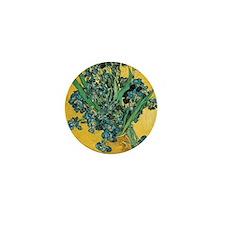 Irises by Vincent van Gogh Mini Button