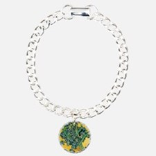 Irises by Vincent van Go Charm Bracelet, One Charm