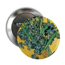 """Irises by Vincent van Gogh 2.25"""" Button"""