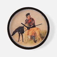 BoyandDeerhound Wall Clock