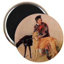 BoyandDeerhound Magnet