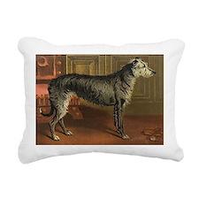 DeerhoundCard Rectangular Canvas Pillow