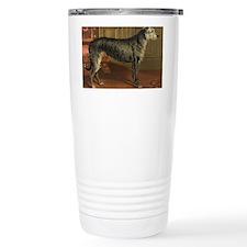 DeerhoundCard Travel Coffee Mug