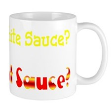 White Sauce Hot Sauce NYC Street Cart L Mug