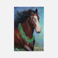 Jingle Bell Horse Rectangle Magnet