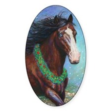 Jingle Bell Horse Decal
