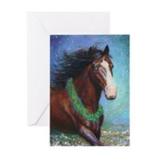 Jingle Bell Horse Greeting Card